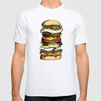 Now THIS is a burger. Mens Fitted Tee Ash Grey SMALL
