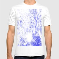 Blue Trees Mens Fitted Tee White SMALL