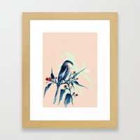 Hashtag Blue Bird Framed Art Print