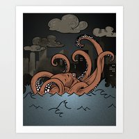 Octopi Movement  Art Print