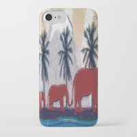 elephants iPhone & iPod Cases featuring Elephants by LoRo  Art & Pictures