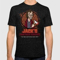 Jack's Caretaker Service… Mens Fitted Tee Tri-Black SMALL