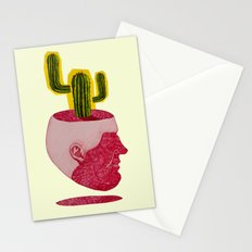 cactus man Stationery Cards