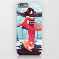A walk in the asian winter iPhone 6 Slim Case
