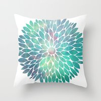 Watercolor Flower Throw Pillow