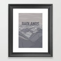 Badlands Framed Art Print