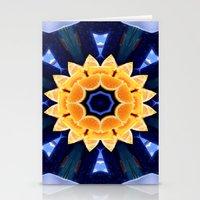 Orange Flower Mandala Stationery Cards