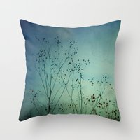 Fleeting Moment - Blue Shades Throw Pillow