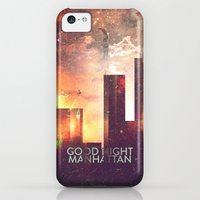 iPhone 5c Cases featuring Good night Manhattan by HappyMelvin