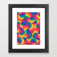 Spiral Mess Framed Art Print