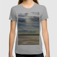 Filey Beach Womens Fitted Tee Athletic Grey SMALL
