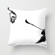 PDX vs TYO Throw Pillow