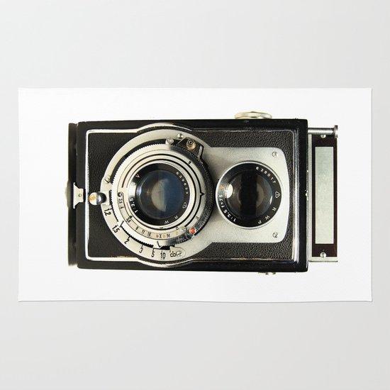 Vintage Camera Area & Throw Rug