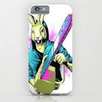iPhone & iPod Case featuring Rabbit With A Chainsaw by Steven Luros Holliday