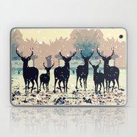 Deer In The Snowy Forest Laptop & iPad Skin