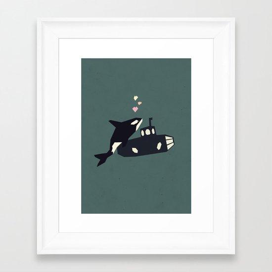 K is for Killer whale Framed Art Print
