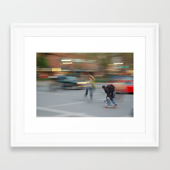 New York City Skaters #1 Framed Art Print