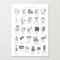 abecedario abc Canvas Print