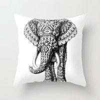 Navajo Elephant Throw Pillow