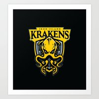 Iron Island Krakens Art Print