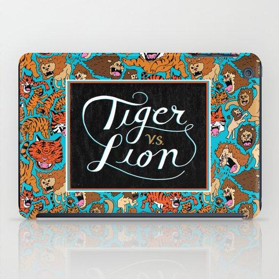 Tiger VS. Lion iPad Case
