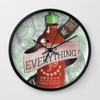 An Ode To Sriracha Wall Clock