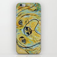 iPhone & iPod Skin featuring Yellow Dog by WOOF Factory
