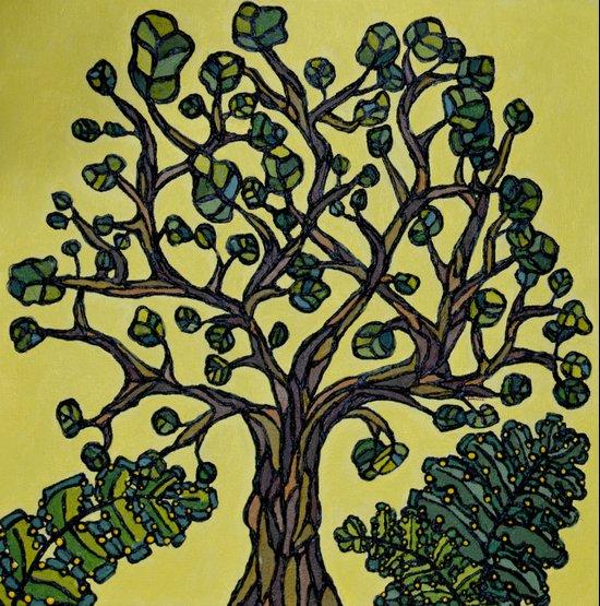 Texture Tree Art Print