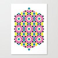 Arabesque CMYK Canvas Print