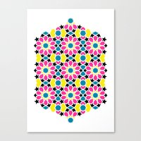 Arabesque CMYK Canvas Print