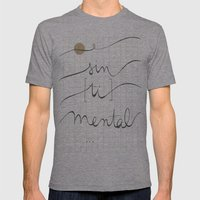sin (tí) mental Mens Fitted Tee Athletic Grey SMALL