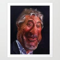Caricature for a Robert De Niro Art Print