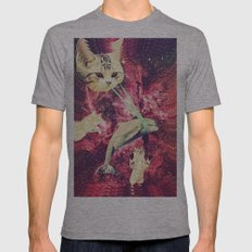 Galactic Cats Saga 2 Mens Fitted Tee Athletic Grey SMALL