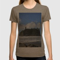 Sea Stacks Womens Fitted Tee Tri-Coffee SMALL