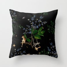 Monkey World: Apy and Vinnie Throw Pillow