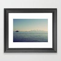 Sitting On The Dock Of T… Framed Art Print