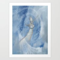 Heaven Bound .. fantasy art Art Print