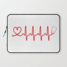 Ekg Heart Stethoscope Laptop Sleeve