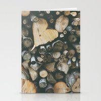 Heart Shaped Wood Stationery Cards