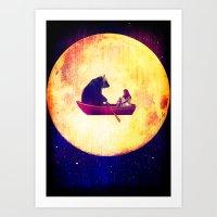 Moon Flight Art Print