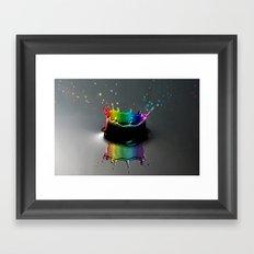 Splash of colour Framed Art Print