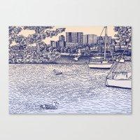 Charles River Esplanade Canvas Print