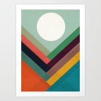 Rows of valleys Art Print