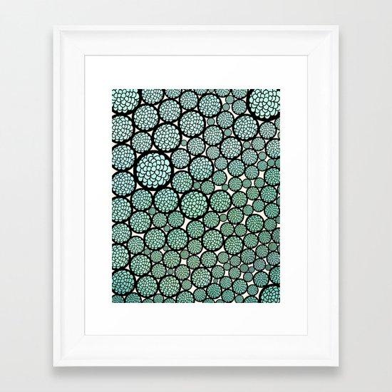 Blooming Trees Framed Art Print