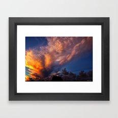 Winged Sunset Framed Art Print