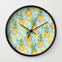 Pineapple Summer Wall Clock