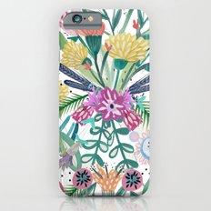 Flower burst, Illustration, print, art, pattern, floral, flowers, colour, painting, design, Slim Case iPhone 6s