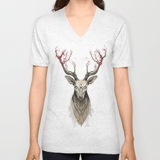 Deer tree Unisex V-Neck