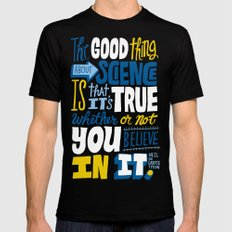 The Good Thing About Science SMALL Black Mens Fitted Tee