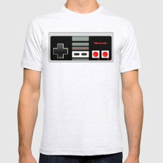 Classic retro Nintendo game controller iPhone 4 4s 5 5c, ipod, ipad, tshirt, mugs and pillow case Mens Fitted Tee Ash Grey SMALL